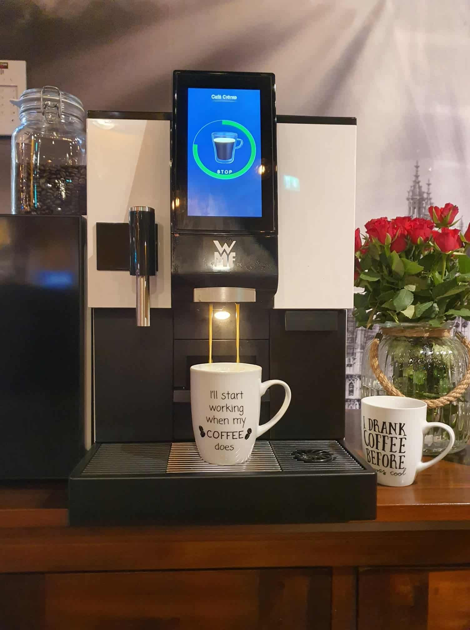 Always fresh and freshly brewed coffee in our new coffee machine